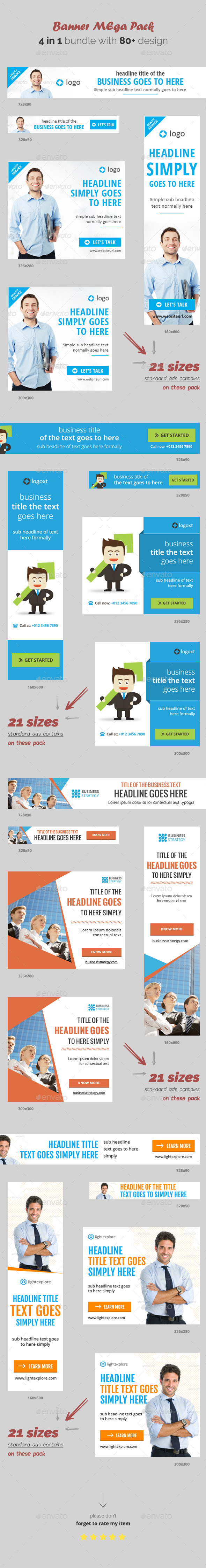 Massive Web Banner Bundle - Banners & Ads Web Elements