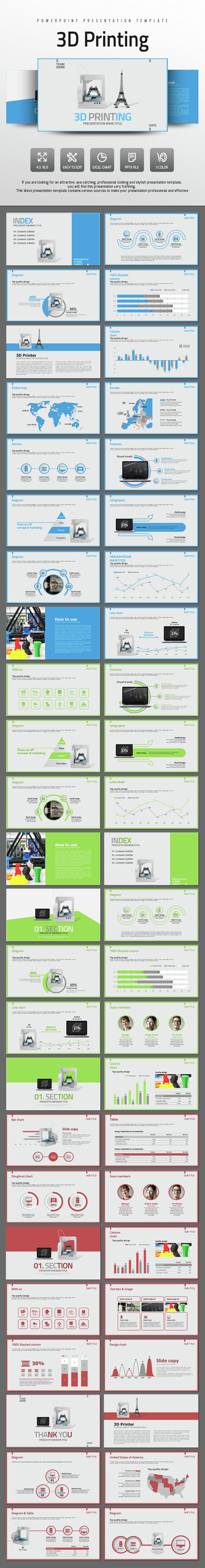 3D Printing - PowerPoint Templates Presentation Templates