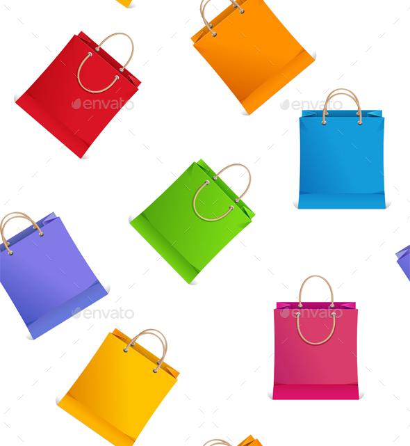Seamless Pattern Shopping Bag Vector  - Patterns Decorative