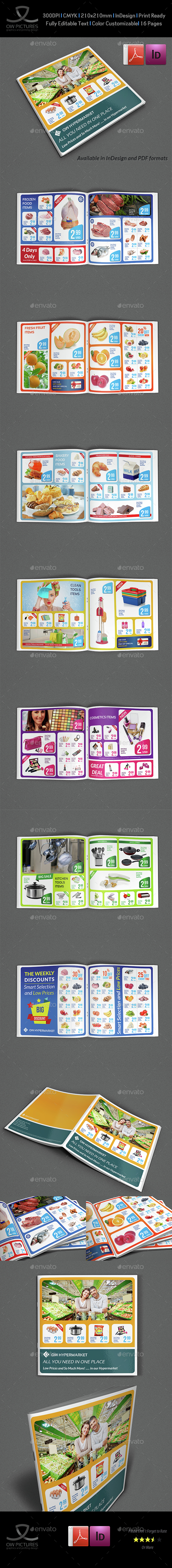 Supermarket Products Catalog Brochure Template Vol3 - Catalogs Brochures
