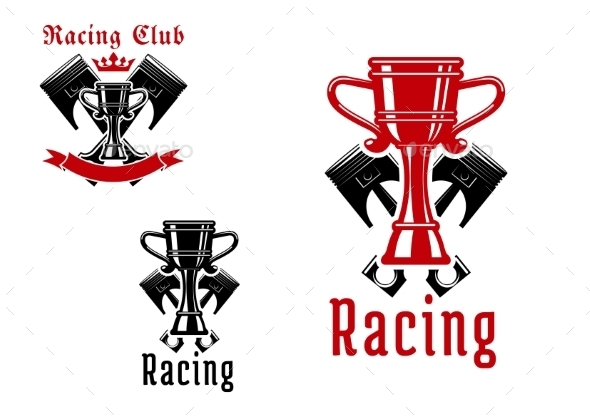 Racing Sport Club Or Competition Icon Design - Sports/Activity Conceptual