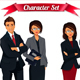 Businesspeople Team Standing Folded Hands - GraphicRiver Item for Sale