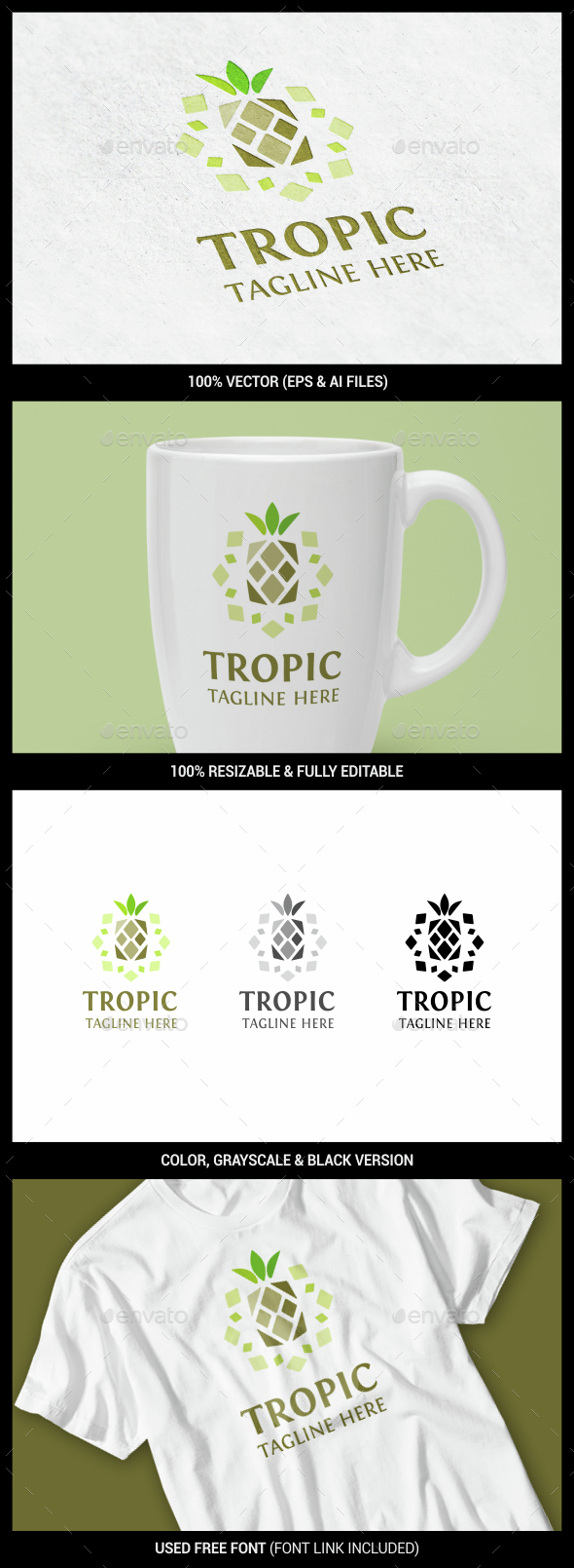 Pineapple - Food Logo Templates