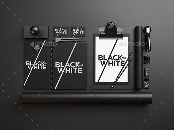 Branding / Identity Black and White Mock-Up  - Miscellaneous Print