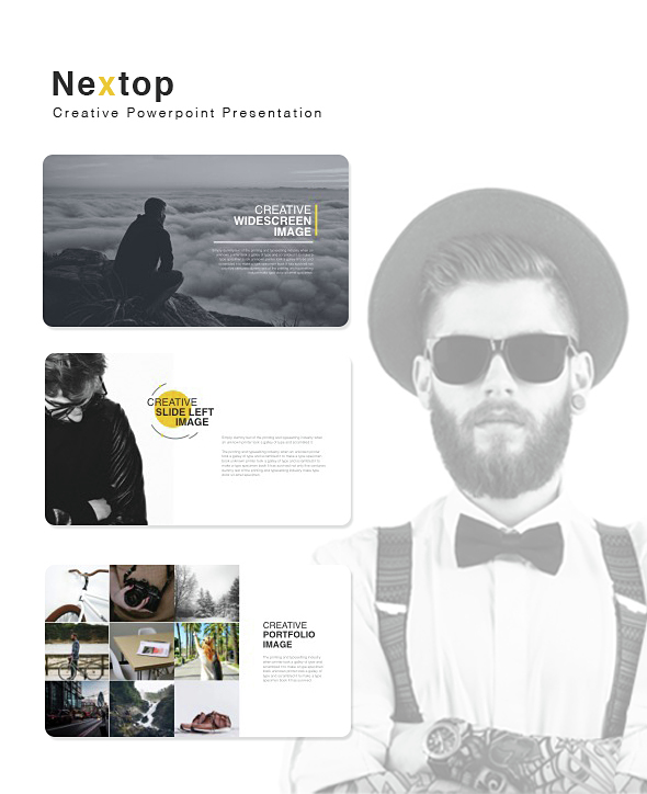 Nextop Powerpoint Presentation - Creative PowerPoint Templates