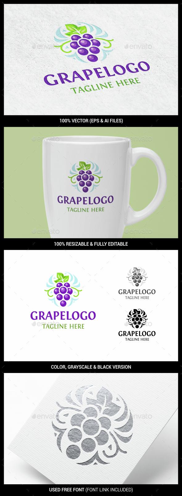 Grape - Food Logo Templates