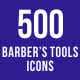 500 Barber's Tools Icons Bundle - GraphicRiver Item for Sale