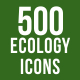 500 Ecology Icons Bundle - GraphicRiver Item for Sale