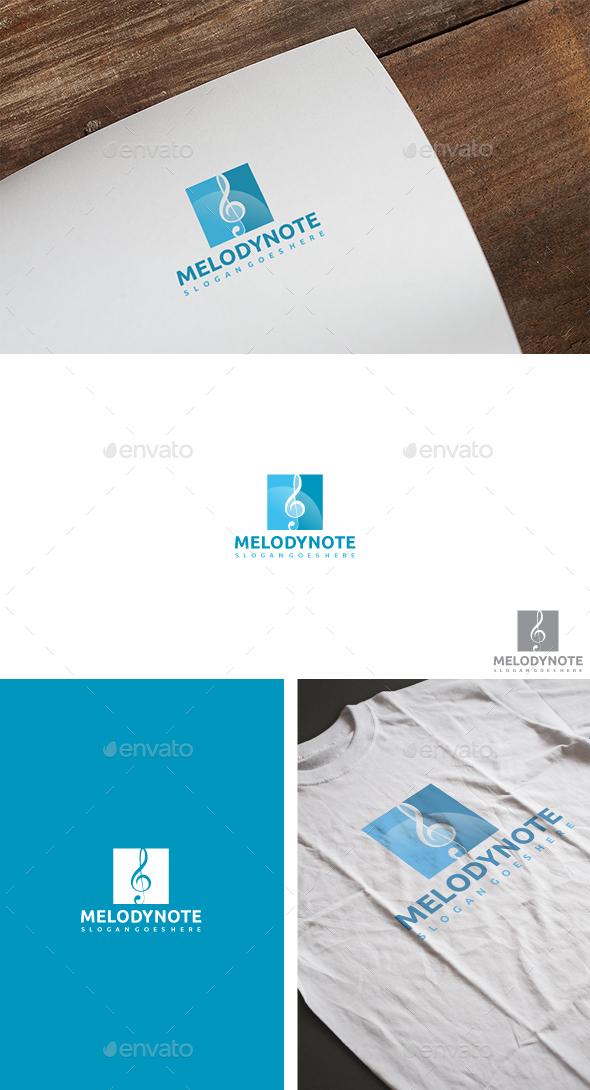 Melody Note Logo - Symbols Logo Templates