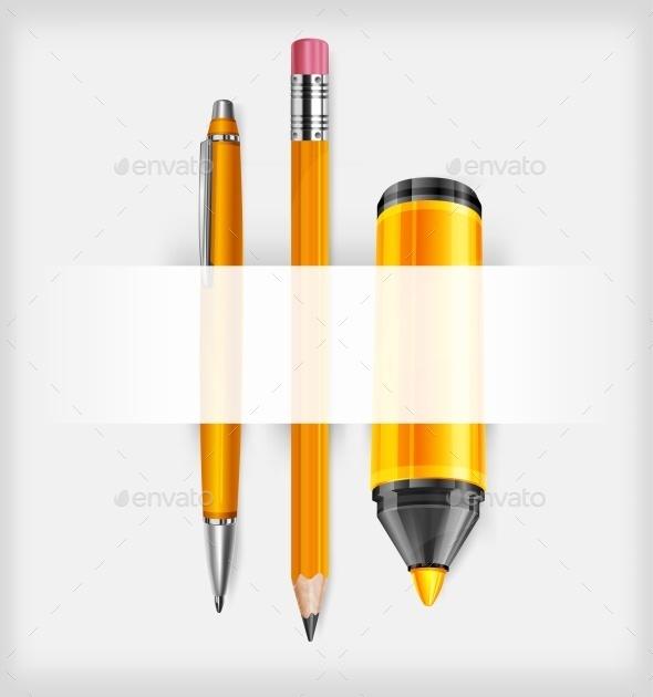 Pen. Pencil and Marker - Vectors