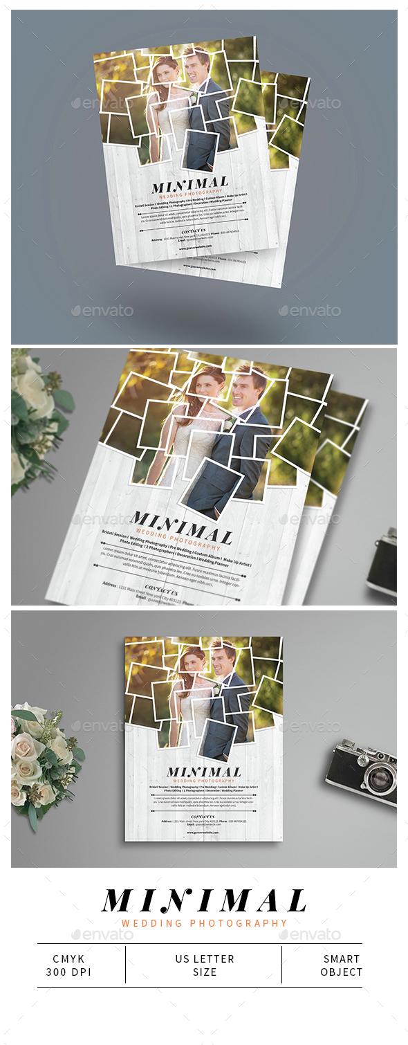 Minimal Wedding Photography Flyer - Corporate Flyers