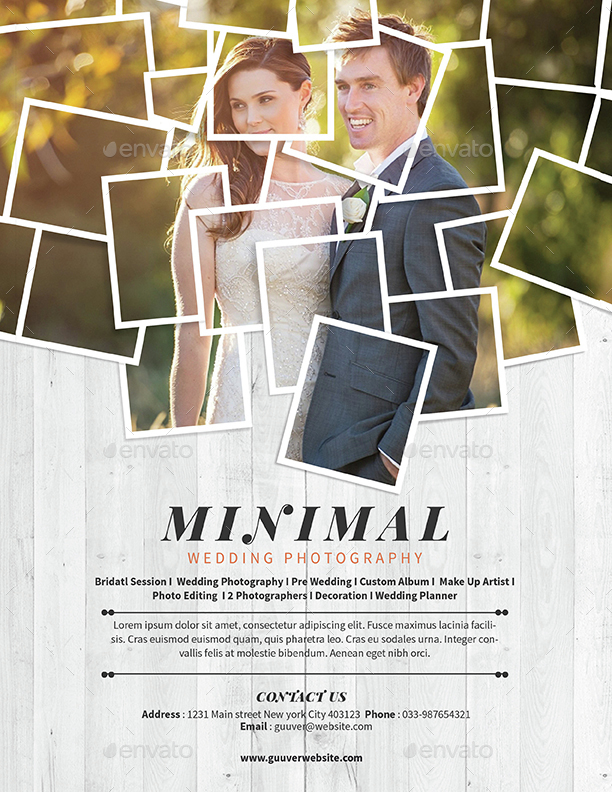 Minimal Wedding Photography Flyer By Guuver  Graphicriver