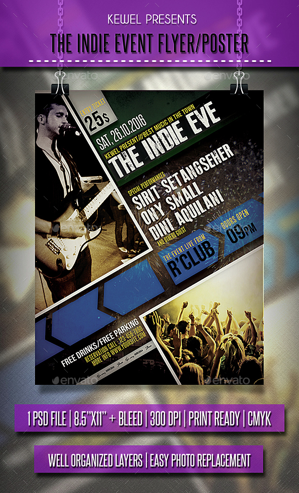 The Indie Event Flyer / Templates - Events Flyers