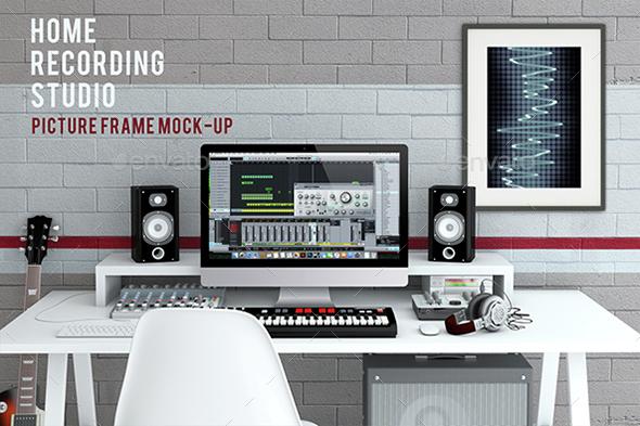 Home Recording Studio Mock-Up #2 - Product Mock-Ups Graphics