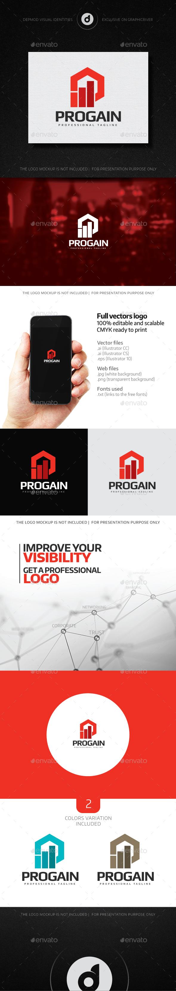 ProGain Logo - Abstract Logo Templates