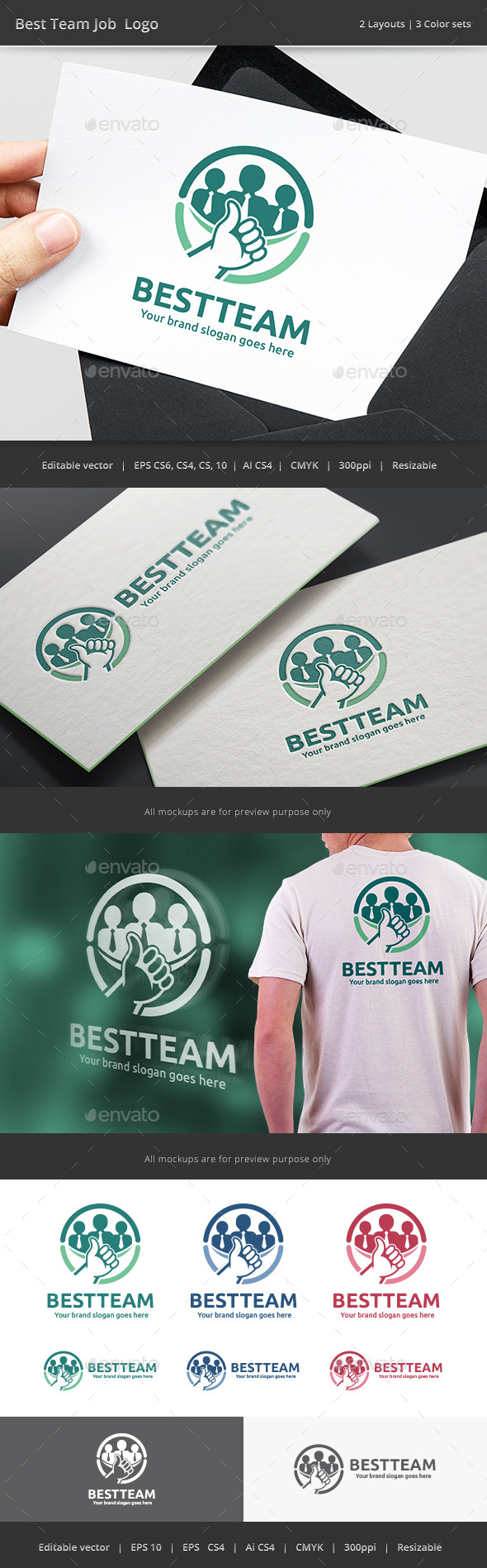 Best Team Job Logo - Vector Abstract