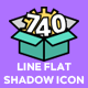 Universal Line Flat Shadow Icons - GraphicRiver Item for Sale