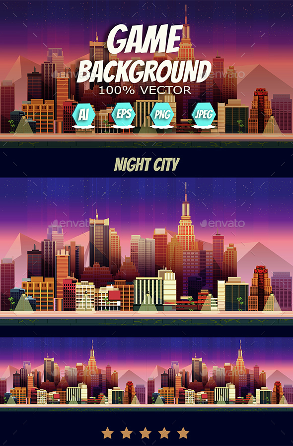 Game Assets Night City Game Background - Backgrounds Game Assets