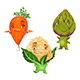 Carrot, Cauliflower and Artichoke - GraphicRiver Item for Sale
