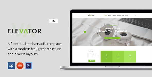 Elevator – Responsive Business HTML5 Template