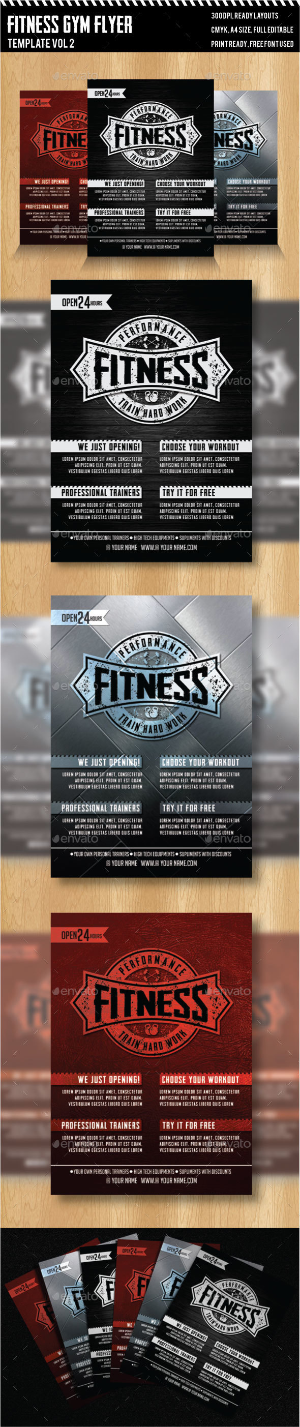 Fitness - Gym Flyer Templates - Sports Events