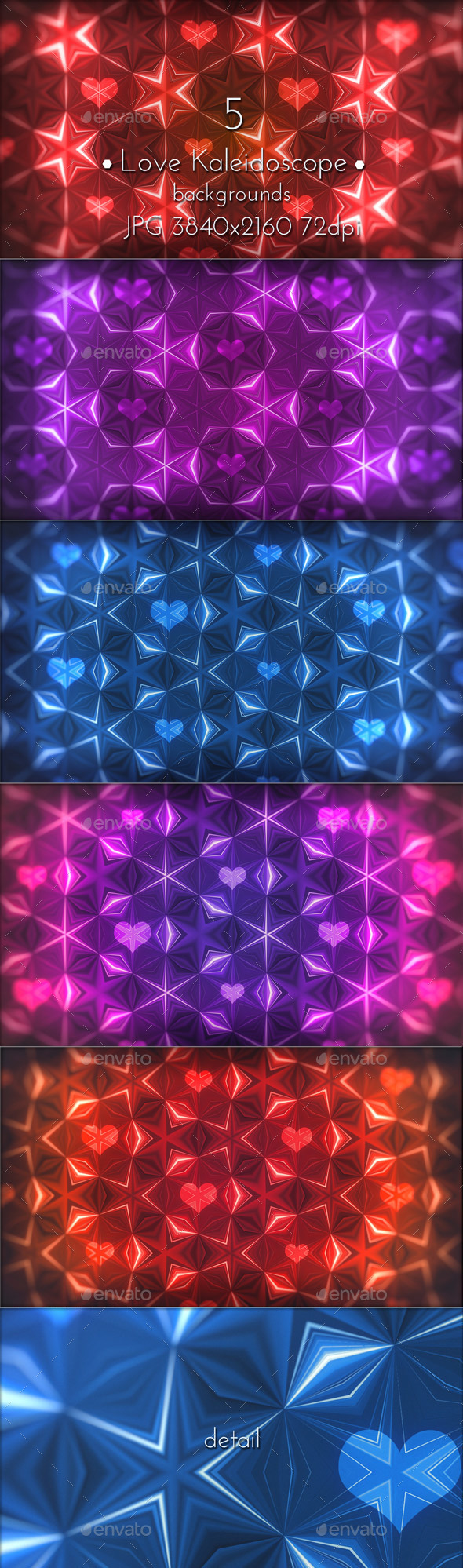 Love Kaleidoscope - Patterns Backgrounds