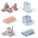 Isometric Industrial Buildings - GraphicRiver Item for Sale