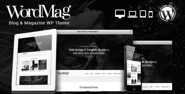 WordMag - Typography Focused WordPress Magzine Theme - Personal Blog / Magazine