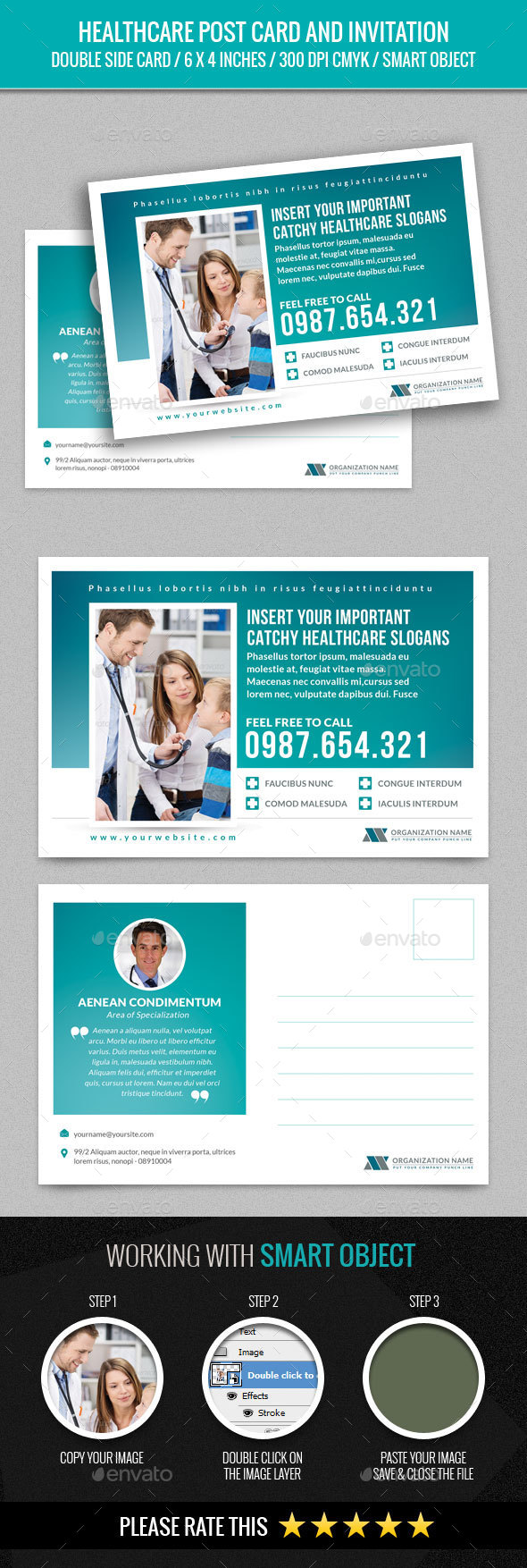 Healthcare Post Card - Cards & Invites Print Templates