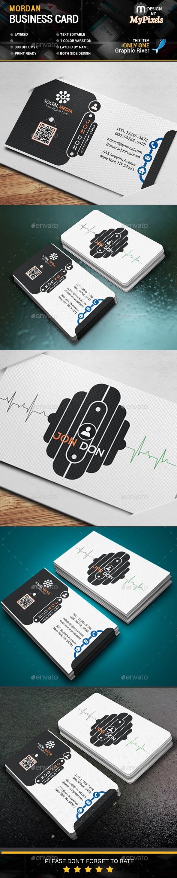 Mordan Business Card - Business Cards Print Templates