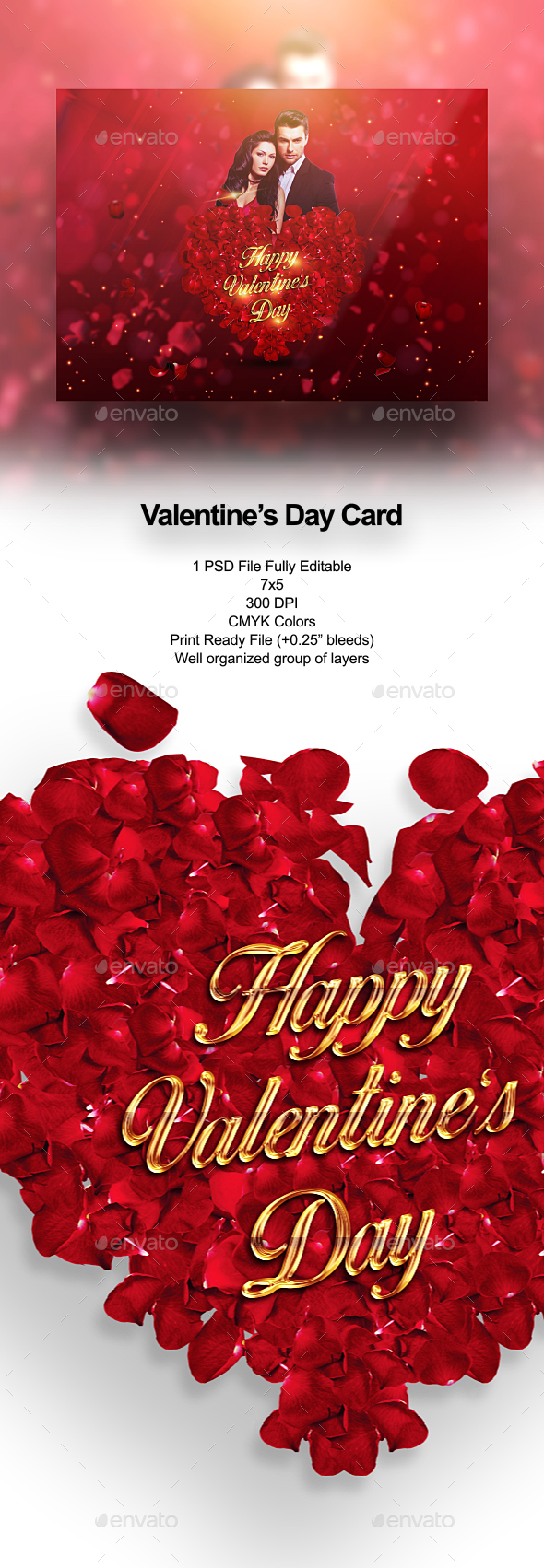 Valentine's Day Card - Holiday Greeting Cards