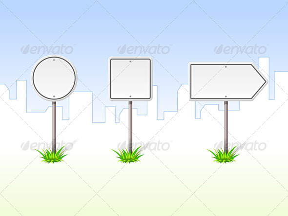 Blank Traffic Signs - Objects Vectors