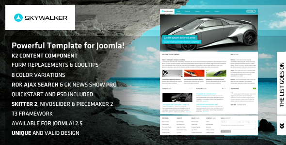 Skywalker – Powerful Template for Joomla!