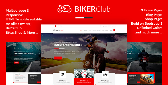 BikersClub - HTML Template - Retail Site Templates