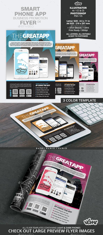 Smart Phone App Business Promotion Flyer 05 - Commerce Flyers
