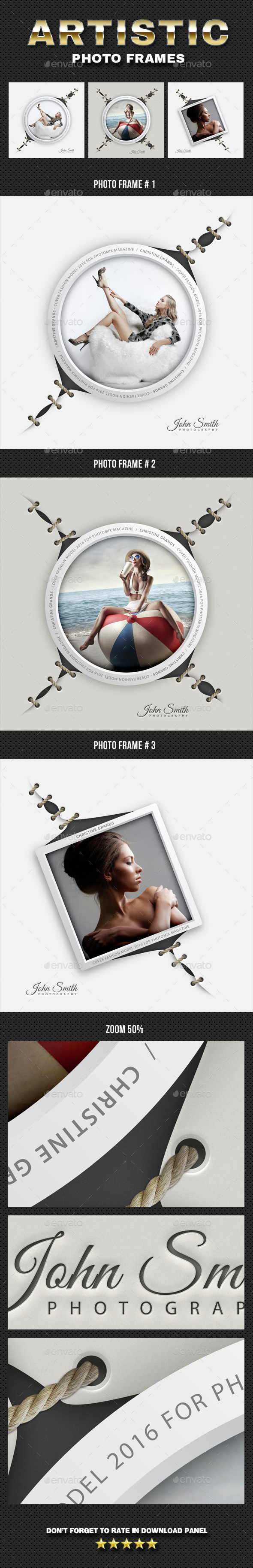 Artistic Photo Frame 04 - Photo Templates Graphics
