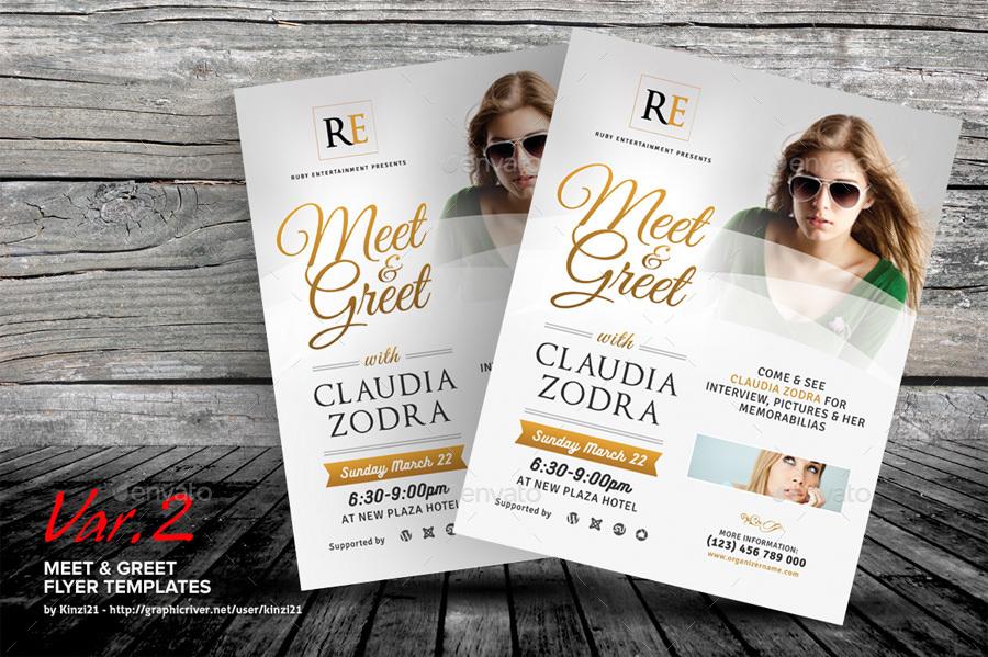 meet and greet flyer template