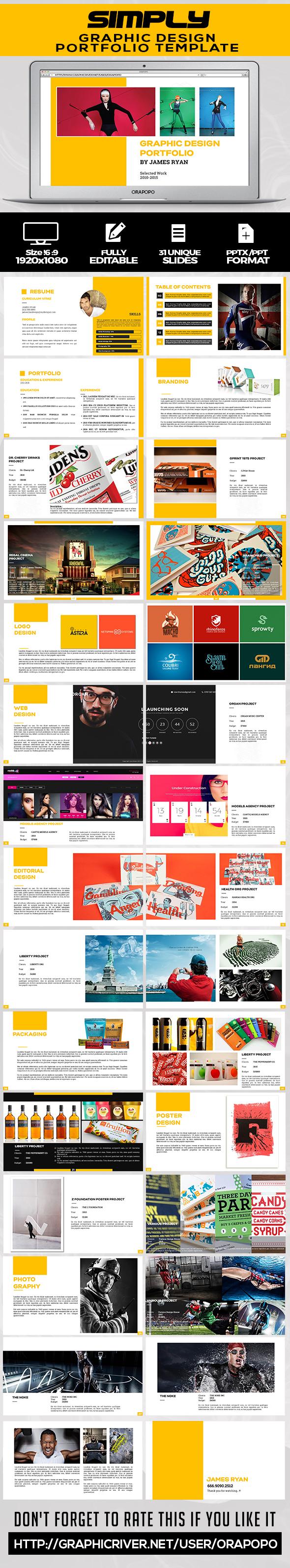 Graphic Design Portfolio Template - Creative PowerPoint Templates