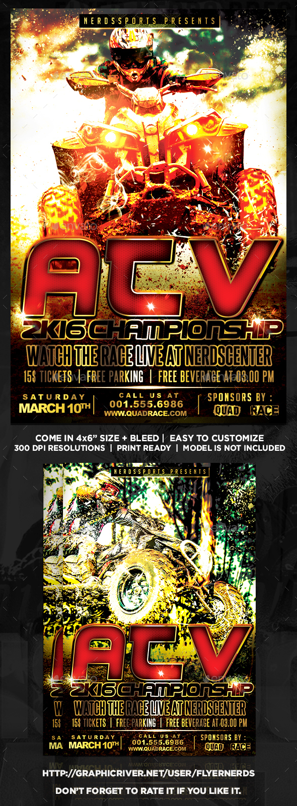 ATV 2K16 Championships Sports Flyer  - Sports Events