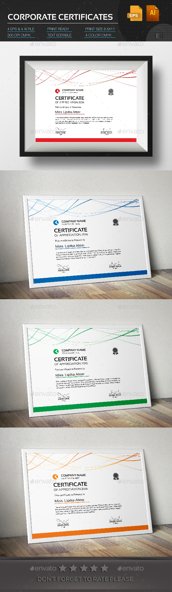 Corporate Certificate - Certificates Stationery