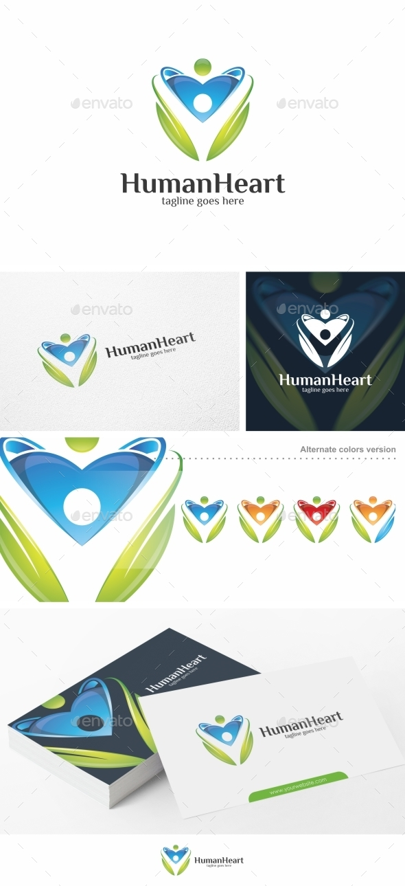 Human Heart - Logo Template - Humans Logo Templates