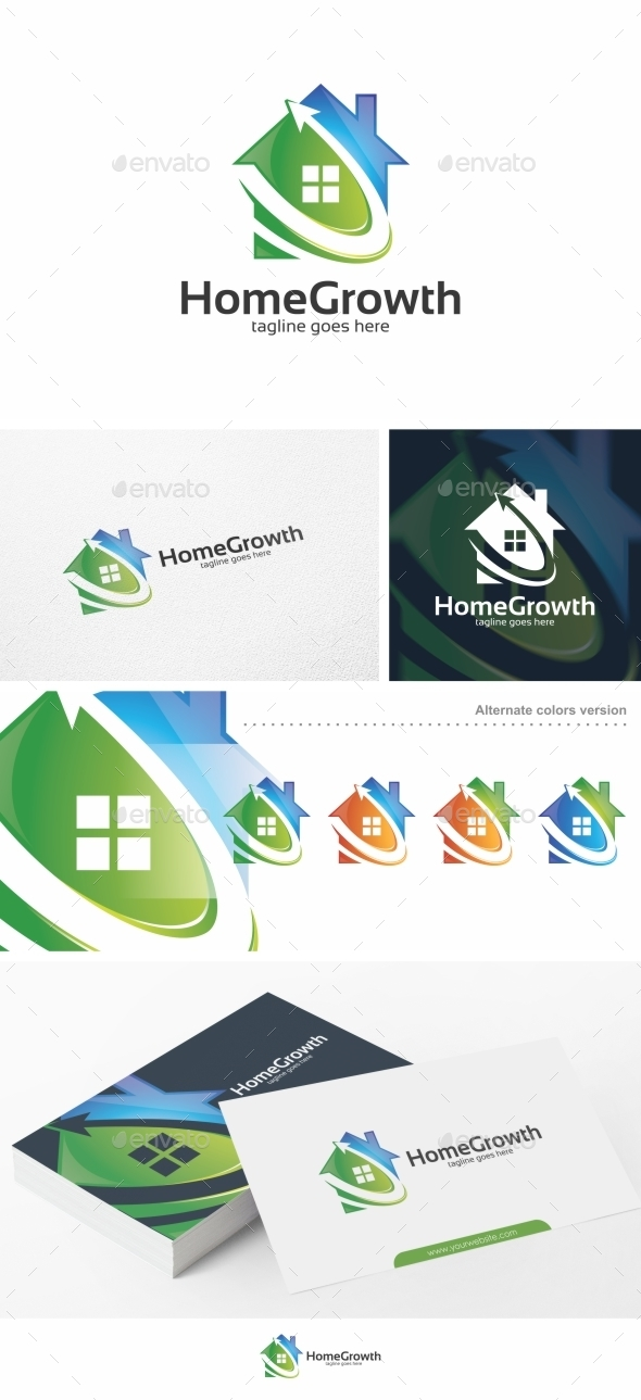 Home Growth / House - Logo Template - Buildings Logo Templates