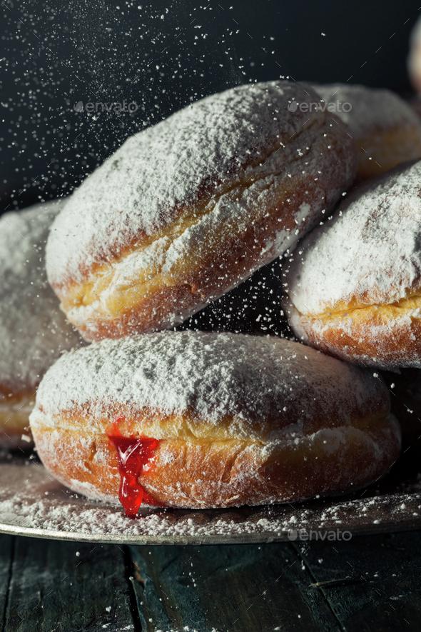 Homemade Sugary Paczki Donut - Stock Photo - Images