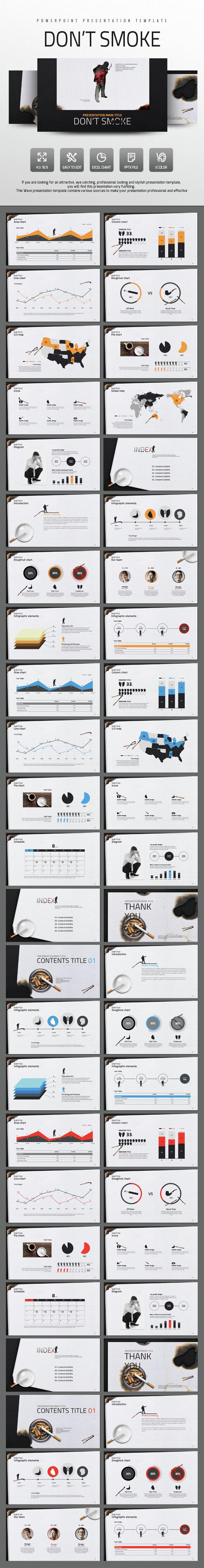 Do Not Smoke - PowerPoint Templates Presentation Templates