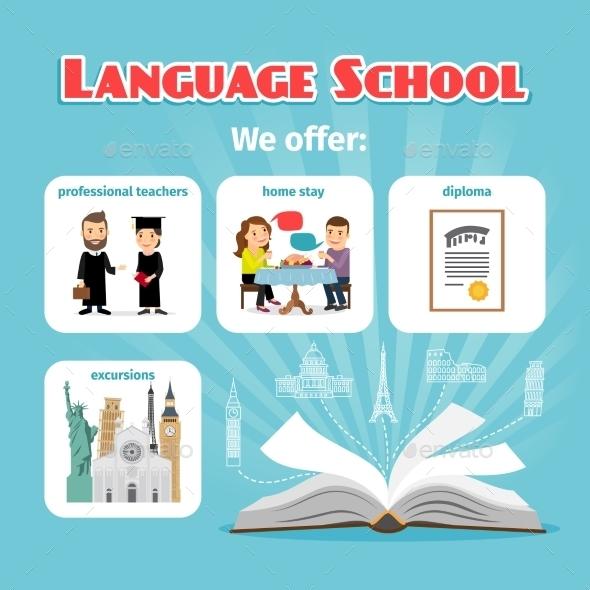 Language School Benefits - Miscellaneous Conceptual