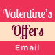 Valentine's Day Shopping Offers E-Newsletter PSD Template - GraphicRiver Item for Sale