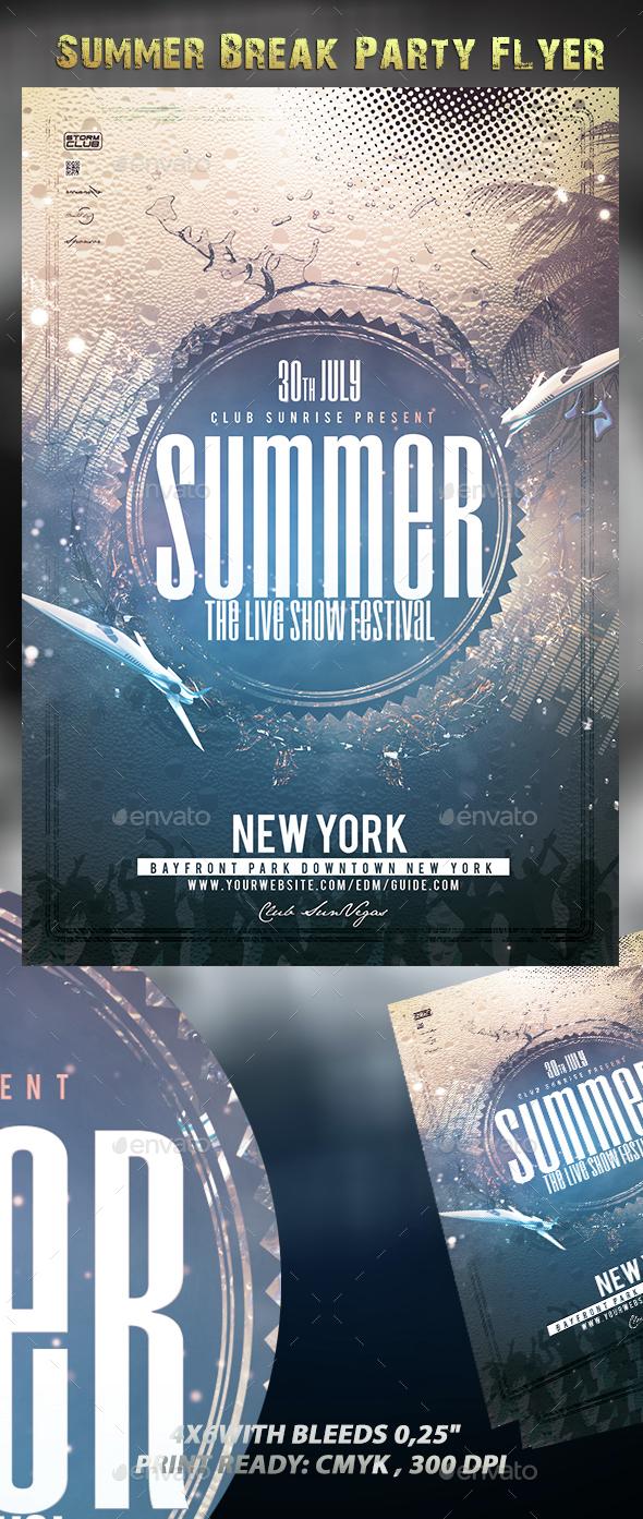 Summer Break Party Flyer - Events Flyers
