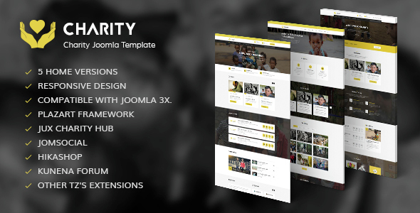 Image of Charity - Nonprofit, Fundraising Joomla Template