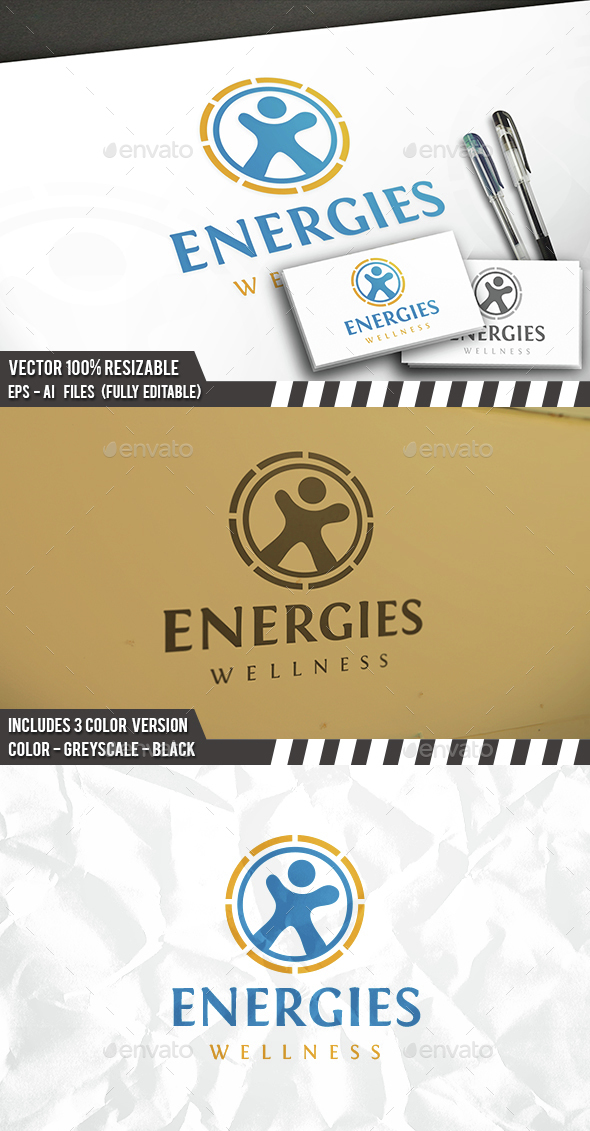 Energetic Fitness Logo - Humans Logo Templates