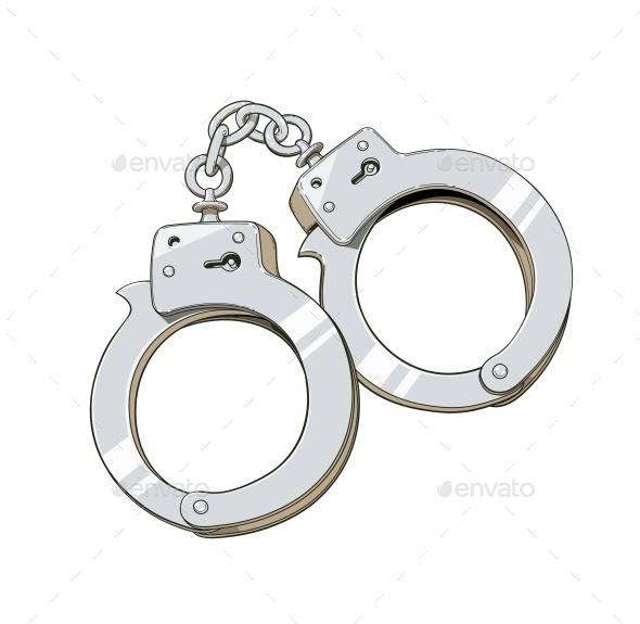 Iron Handcuffs for Criminal - Vectors
